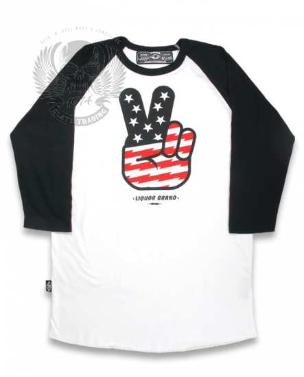 DEUCES WHITE RAGLAN